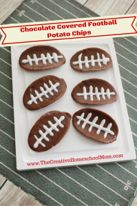 Chocolate Covered Football Potato Chips
